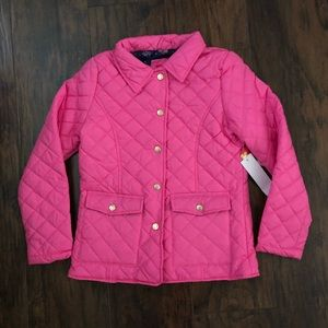 Pink Platinum Girl's Pink Quilted Jacket